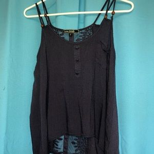 Love Stitch Tank with Sheer Back